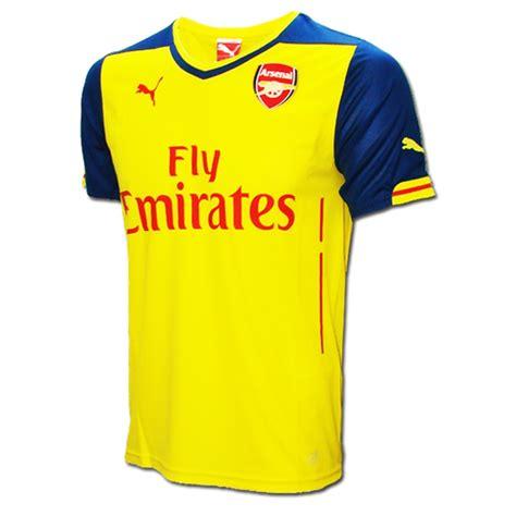 arsenal yellow jersey sale 54 95 puma arsenal away 14 15 replica soccer