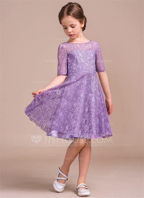 Deko Mit Lavendel 2646 by A Linie Princess Linie U Ausschnitt Knielang Spitze Kleid