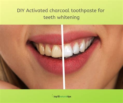 diy homemade activated charcoal toothpaste