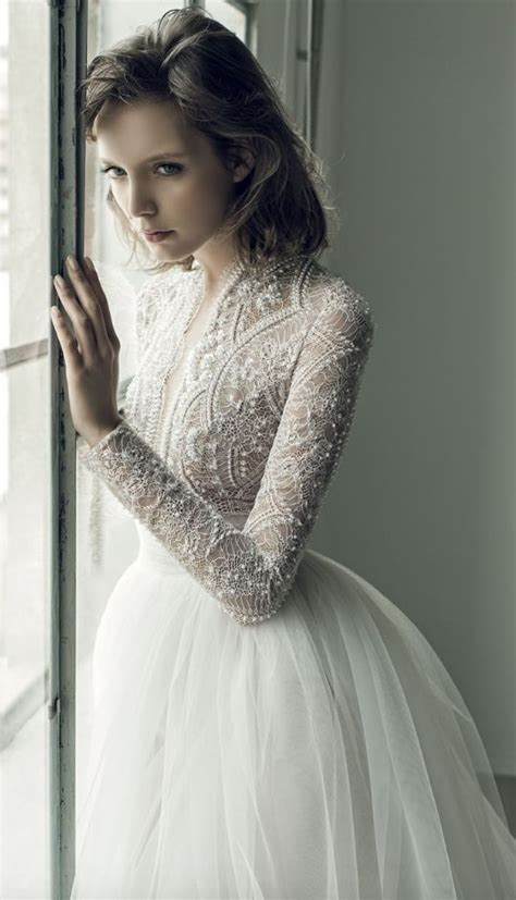 netted wedding dresses unique pearl studded netted bodice tulle skirt wedding dress