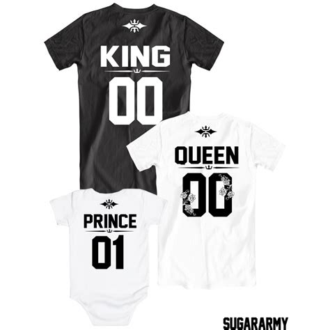 T Shirt Family king and prince matching family t shirts sugararmy