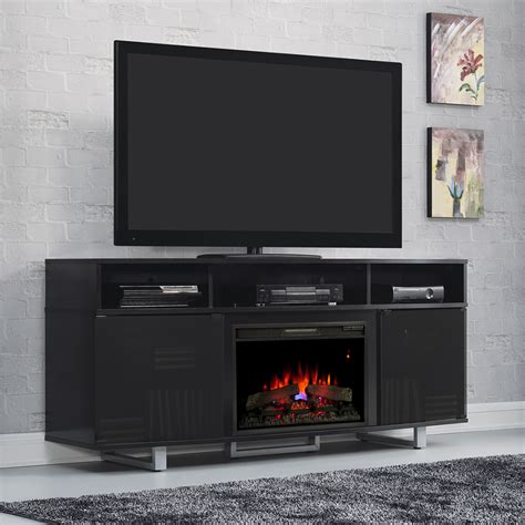 black electric fireplace entertainment center enterprise lite electric fireplace entertainment center in