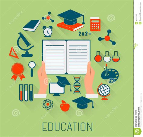 education design flat design concept icons for education e learning