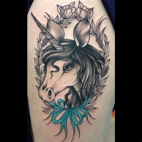 20 unicorn tattoos that ll revive your imagination sortra