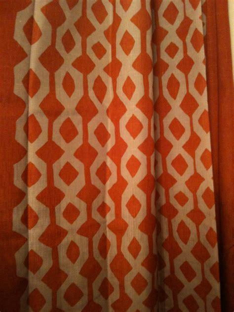 orange shower curtains fabric pin by jillana lamm on blue and orange room pinterest