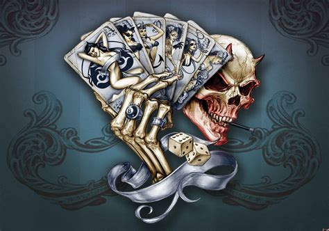 Skull Cards Wallpapers skull dice cards wall paper mural buy at europosters