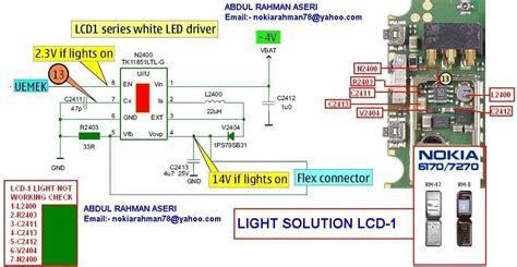 Lcd Nokia 6225 6170 7270 nokia 6170 7270 lcd light solution