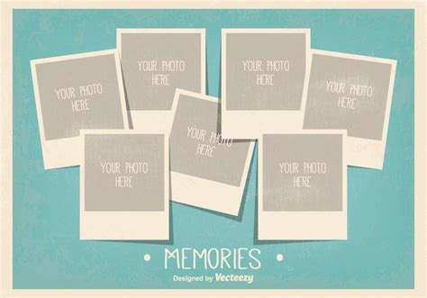 card cpllage background templates vintage style photo collage template free