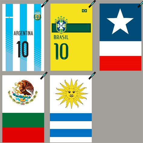 argentina brazil chile mexico uruguay national flag towel