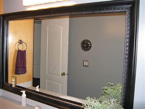 How To Frame An Existing Bathroom Mirror Bathroom Mirror Frame Traditional Bathroom Salt Lake City By Reflected Design Frames