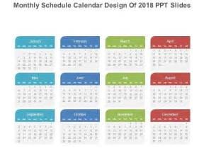 Calendar Template 2018 Powerpoint Monthly Schedule Calendar Design Of 2018 Ppt Slides