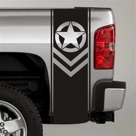 truck decals army chevron truck bed stripe decal stickers