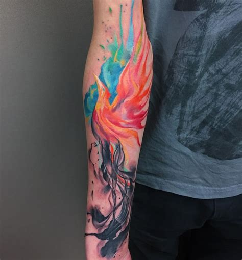 watercolor phoenix tattoo best 25 watercolor ideas on