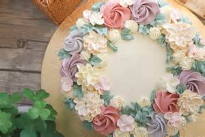 Secret Flower Of Life - buttercream flower wreath cakes cake style