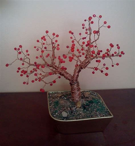 how to make a beaded wire tree copper wire tree beaded by ladydracos on deviantart