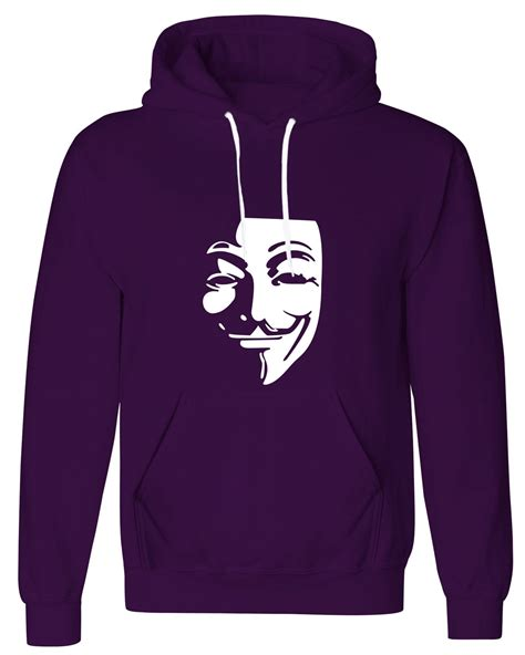 Hoodie Sweater Anonymous Anonymous Mask Mens Pullover Fleece Hoodie Womens