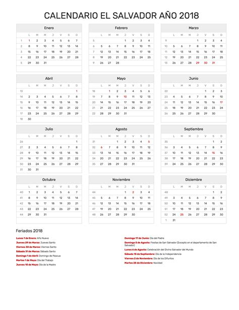 calendario 2018 el salvador 28 images calendario