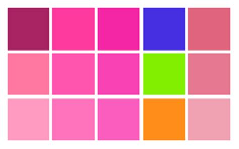 pink color combinations image gallery html color pink
