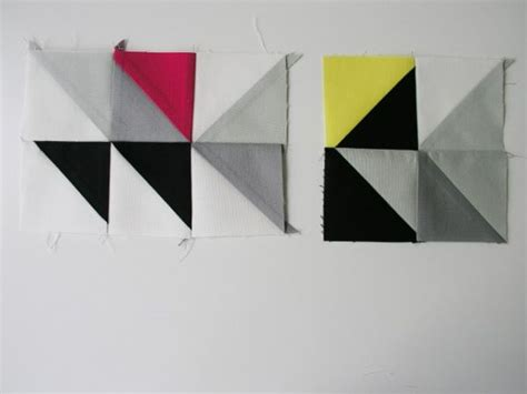 Triangle Patchwork - diy framed triangle patchwork
