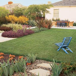 ca backyard reining in water use lawn care yard garden this