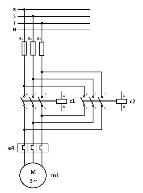 forward circuit diagram wiring diagram for 3 phase forward starter motor