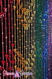 Home curtains acrylic beaded curtains stars amp moons rainbow beaded