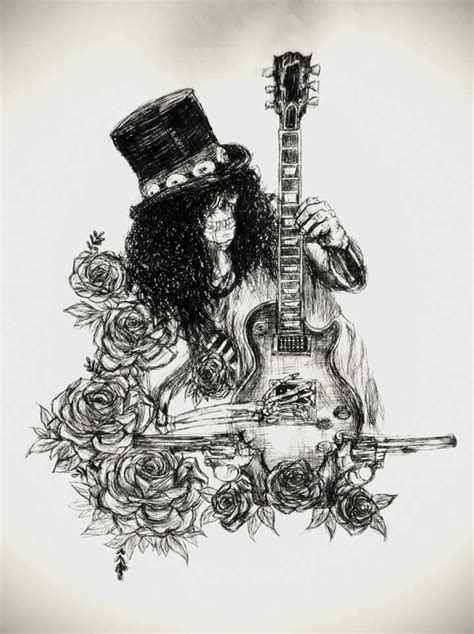 slash rose tattoo slash afd tattoos in 2019 guitarras