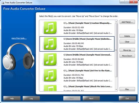 best free audio file converter free audio converter deluxe features free audio