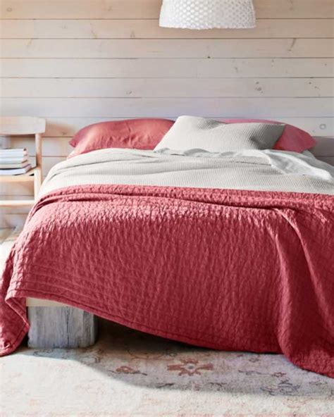 eileen fisher bedding eileen fisher organic cotton coverlet red decoist