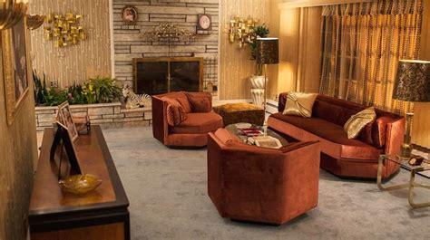 70s home decor hexagonal club chairs in dr pepper velvet from american hustle at 1stdibs
