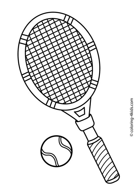 what color is a tennis tennis sport coloring page for printable free
