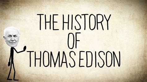 the history of tom the history of thomas edison a short story youtube