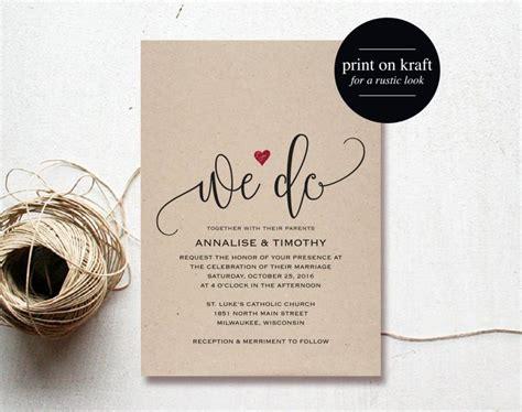 pdf invitations templates we do wedding invitation template rustic kraft invitation
