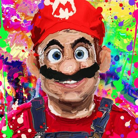 hard smudge painting tutorial super mario smudge painting effect speed demo