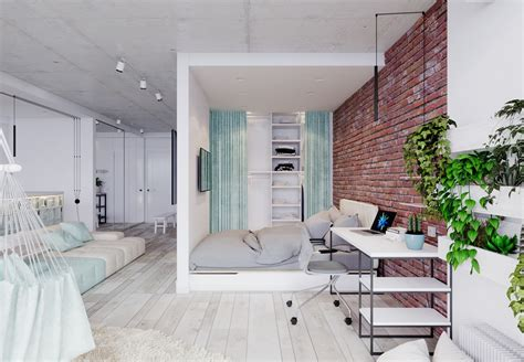 unique apartment design applied with charming style decor