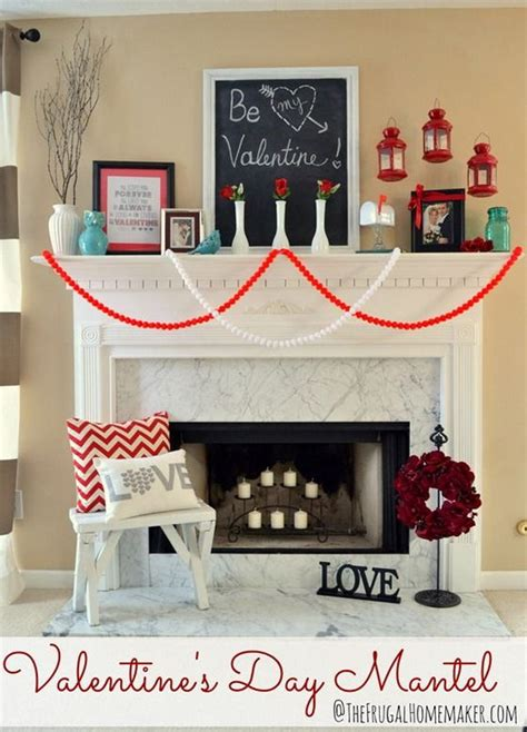 valentines mantel decor beautiful s day mantel decorations 2017