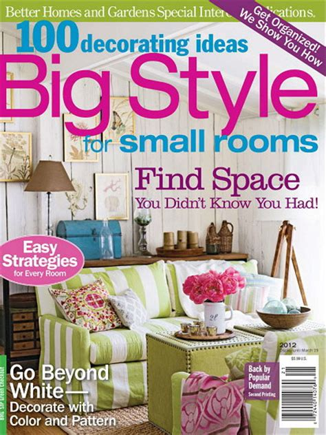 decorating magazines 100 decorating ideas big style for small rooms 2012