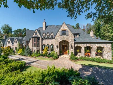 custom mansions estate of the day 5 9 million custom stone manor in georgia