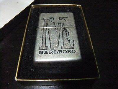 Zippo Marlboro Big M silver plate antique price guide