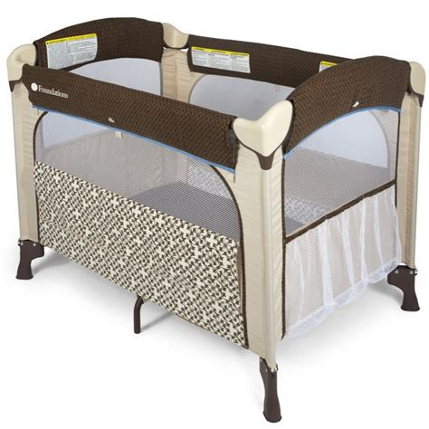 Portable Crib Dimensions by Elite Portable Crib Mattress Brown 1554127