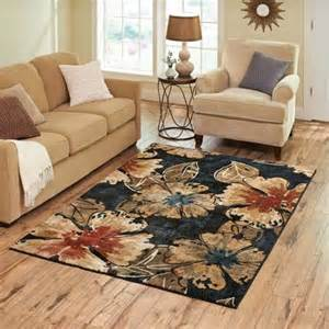 better homes and gardens rugs better homes and gardens indigo floral rug walmart