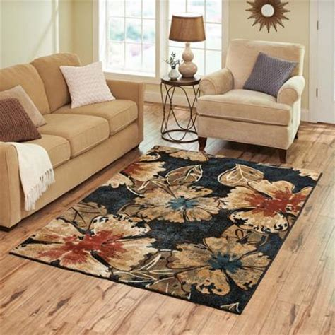 Better Homes And Gardens Area Rugs by Better Homes And Gardens Indigo Floral Rug Walmart