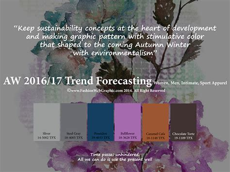 pantone 2017 color trends autumnwinter 2016 2017 trend forecasting is