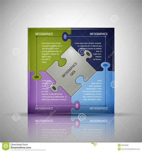 Puzzle Infographics Template Royalty Free Stock Image Image 35640266 Puzzle After Effects Template