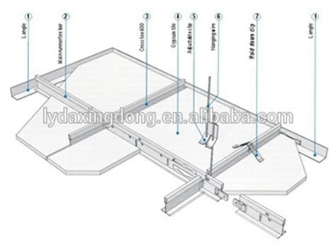 suspended ceiling parts suspended steel keel ceiling grid t bar parts buy steel