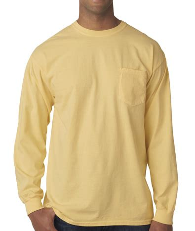 comfort colors long sleeve pocket comfort colors long sleeve pocket t shirt greekshirts