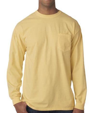 long sleeve comfort colors comfort colors long sleeve pocket t shirt greekshirts