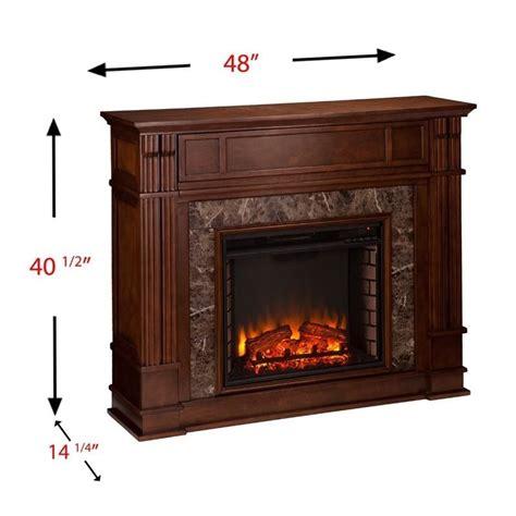 southern enterprises highgate faux stone fireplace tv
