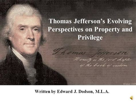 Thomas Jefferson S Evolving Perspectives On Property And Privilege Authorstream Jefferson Powerpoint Template