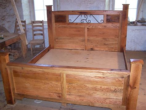 custom bed buy a hand crafted reclaimed wood and hand forged wrought